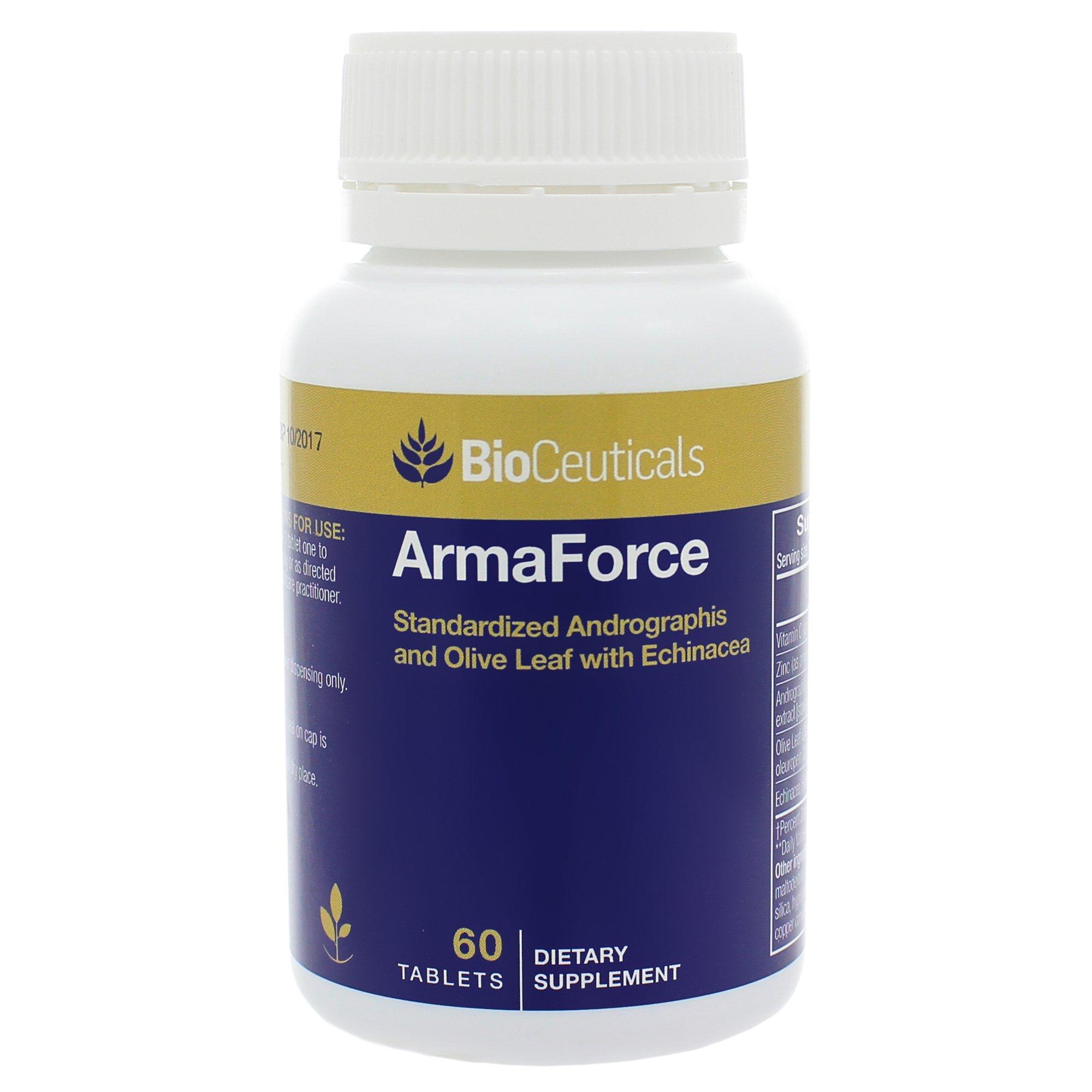 BioCeuticals ArmaForce Immune Support Olive Leaf 60 Caps Vegan