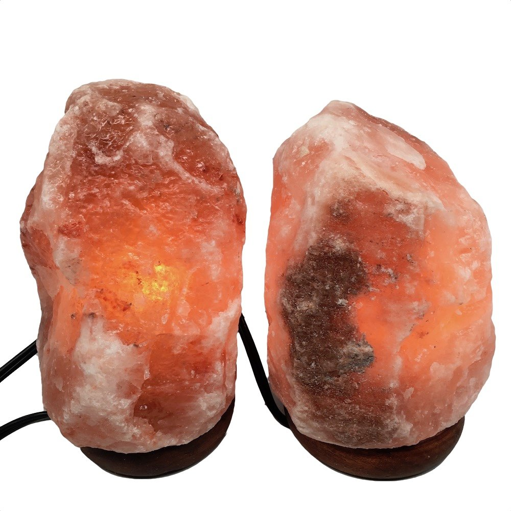 2x Himalaya Natural Handcraft Rough Raw Crystal Salt Lamp 7''-7.5''Tall, X068, Exact Item Delivered