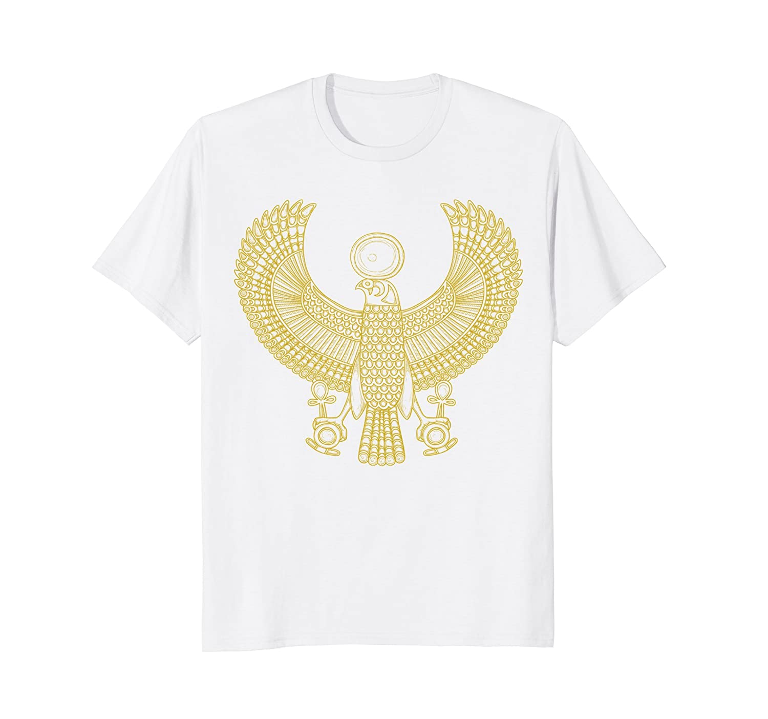 Mens Egyptian Queen Nefertiti Bird Pyramid Falcon KingTut T-Shirt-AZP