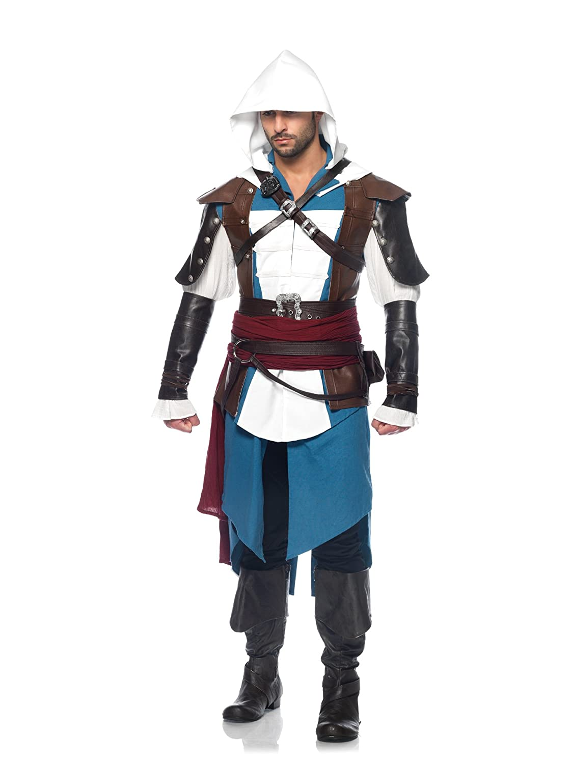 Deluxe Adult Costumes - Men's Assassin's Creed IV Black Flag Edward James Kenway Deluxe 9-Piece Cosplay Costume.