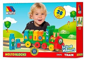 Tren28 17470Amazon Molto esJuguetes Y Piezas Juegos Blocks iZOkuXP