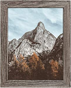 NUOLAN 8x10 Picture Frame, Rustic Gray Wood Pattern Art Photo Frames for Wall or Tabletop Display, Set of 1(NL-PF8X10-RG-1)