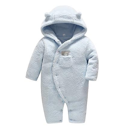 5778d5bed Vine Traje de Nieve Bebé Ropa de Invierno FOOTED Peleles Mameluco con  Capucha Cálido Monos para