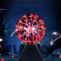 Bola de Plasma Magica 5 Pulgadas, Bola Plasma Grande Xl, Luces Decorativas Sensibles Al Tacto Activadas Por Sonido…