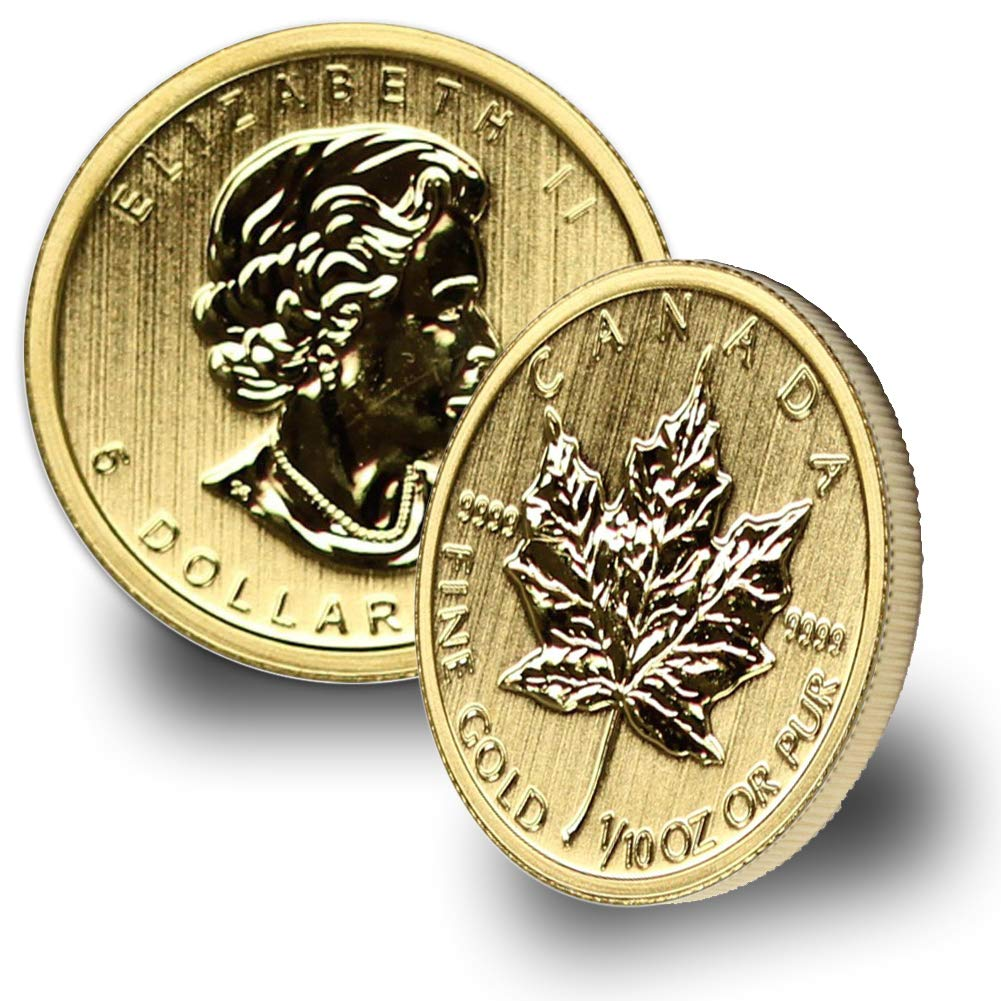 Present Canada 1//10 oz Gold Maple Leaf Gold About Uncirculated 1979 CA Random Year