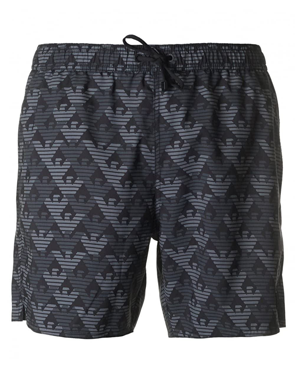 8a8b91061e Ea7 Swimwear Seaworld All Over Eagle Logo Swim Shorts Medium BLACK: Amazon. co.uk: Clothing