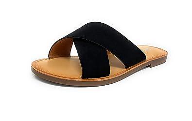 bb5e437dc04 SODA Women's Casual Slip On Sandals