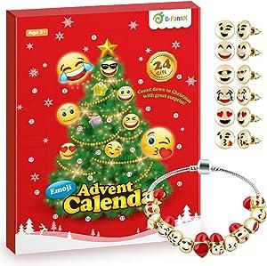 D-FantiX Girls Advent Calendar 2019, Charm Bracelet Advent Calendar DIY Jewelry Countdown to Christmas Advent Calendars for Kids Children Teen Women