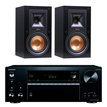 Onkyo TXNR676 72 Channel A V Receiver With Klipsch R 15M Bookshelf Speakers