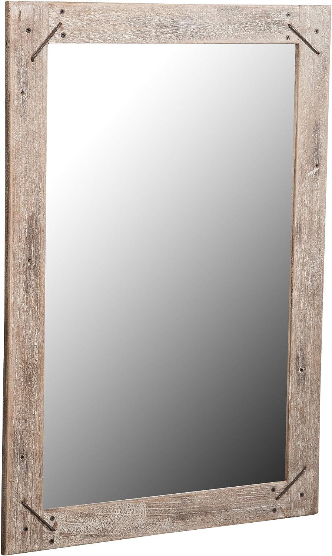 Biscottini Specchio da Parete in Legno massello L60XPR3XH90 cm