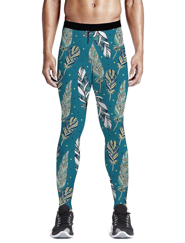 e1369ecb0 Feather346l LEO BON Men's Compression Pants Geometric Geometric ...