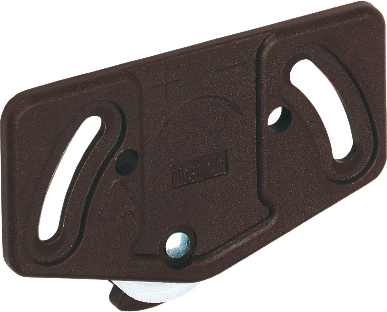 gedotec–Herraje para para armario Sistema de puerta corredera puerta para puerta de madera caballete rollo para puerta corredera | Slide Line–55, soporta hasta 15kg, 1pieza