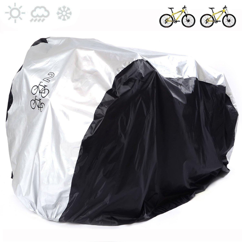Cubierta universal para bicicleta de nailon 190T impermeable, portátil y ligera para almacenamiento exterior o interior de 2bicicletas, de Fucnen fengchanghe