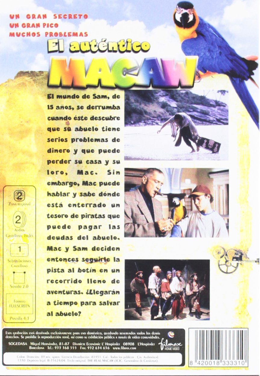 Amazon.com: The Real Macaw (1998) [ NON-USA FORMAT, PAL, Reg.2 Import - Spain ]: Deborra-Lee Furness, John Waters, Jason Robards, John Goodman, Jamie Croft, ...