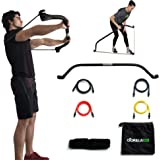 Gorilla Bow Full Portable Home Gym Resistance Band System | Weightlifting & HIIT Interval Training Kit | Full Body Workout Equipment