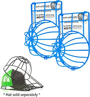 product image for BallcapBuddy Cap Washer Hat Washer The Original Patented Baseball Cap Cleaner Made in USA Excellent Ball Cap Washer for Flat and Curved caps in Top Rack of the Dishwasher or Washing Machine (2-Blue)