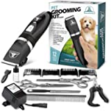 Pet Union Professional Dog Grooming Kit - Rechargeable, Cordless Pet Grooming Clippers & Complete Set of Dog Grooming…