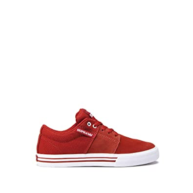 961930eb284 Supra 58193 Boys Stacks II Vulc Skateboarding Shoe, Bossa Nova-White - 1 M