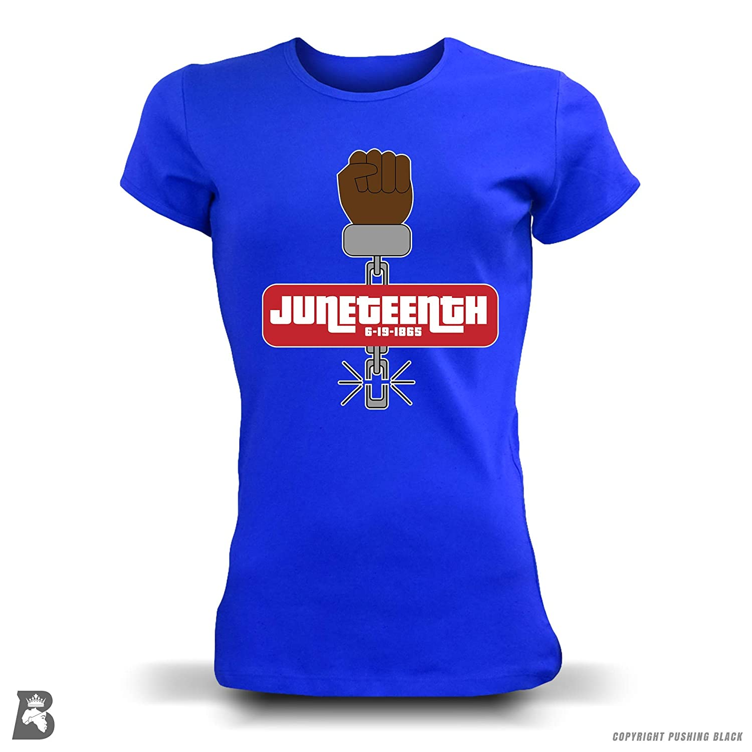 Kitchen Aprons Tank Tops and More Sweatshirts Hoodies Pushing Black Juneteenth Fist of Freedom T-Shirts