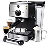 Espresso Machines 15 Bar Fast Heating Coffee Machine with Milk Frother for Espresso, Cappuccino, Latte and Mocha, 1.25L…