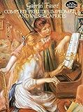 フォーレ : 前奏曲、即興曲、ワルツ集/ドーヴァー社/ピアノ・ソロ