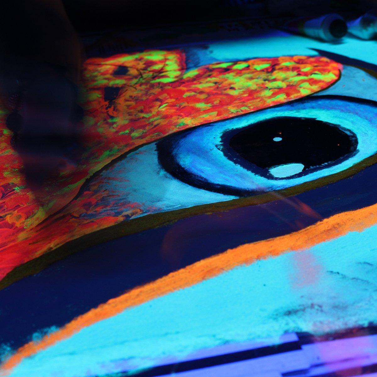 Blue Glow in the Dark & UV Reactive Pigment Powder - 500 Grams by Techno Glow Inc (Image #7)