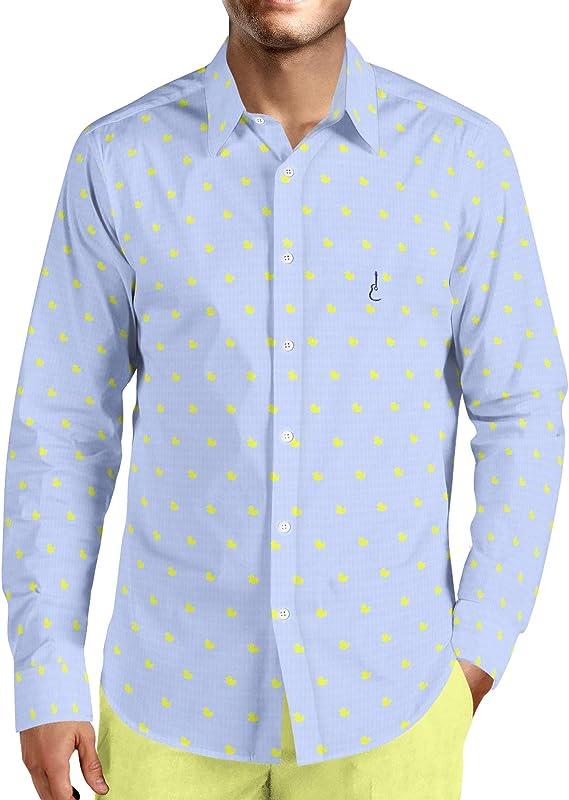 Camisa Manga Larga Estampada Patos Amarillos: Amazon.es: Ropa y accesorios