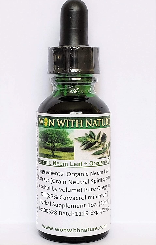 Oregano Oil + Mighty Neem Leaf. Buy 2, Get 1 Free! 83% Carvacrol Oregano Oil