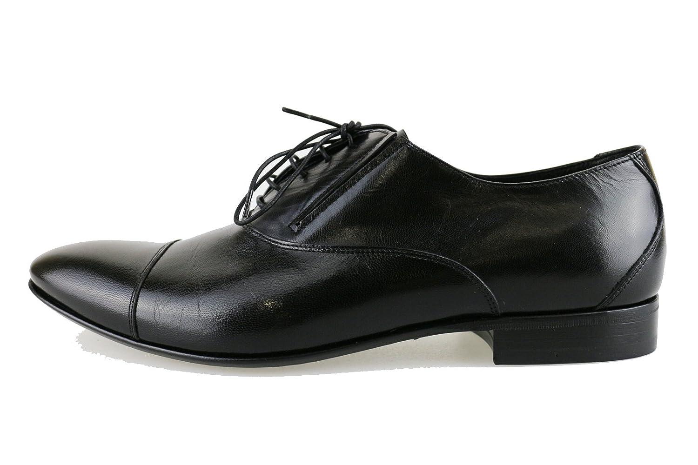 FABI Oxford-shoes / Elegant Man Black Leather AH857 (8 US / 41 EU)