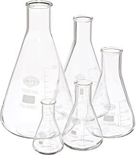 Kimble 26500-4000 Chase Flask White Scale Narrow Mouth 4000 mL Arrow Mouth Erlenmeyer Flasks