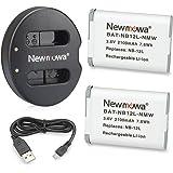 Newmowa キャノンNB-12L 互換バッテリー 2個 + 充電器 セットCanon NB-12L,CB-2LG and Canon LEGRIA mini X, PowerShot N100,PowerShot G1 X Mark II