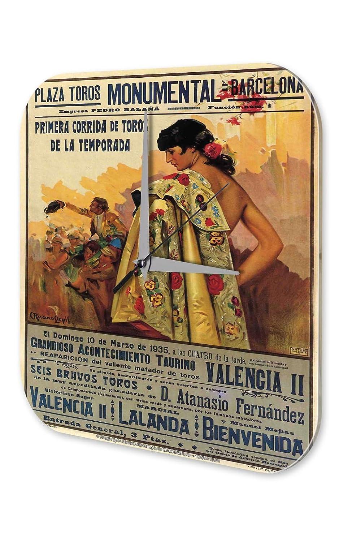 Reloj De Pared Viaje Cocina Decoración Cartel Taurino de ...