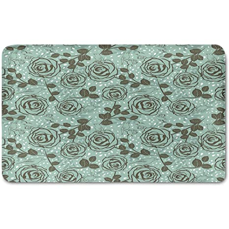 amazon com memory foam bath mat floral romantic season rh amazon com