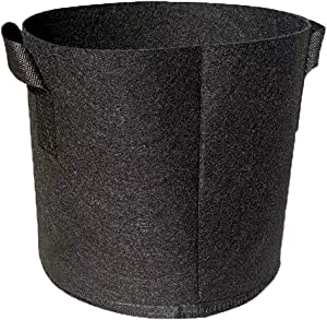 Grow Bags, 5-Pack 5 Gallon Fabric Plant Pots for Indoor or Outdoor Gardening, 7 Garden Pot Planter, 10 Gal Planting Container to Grow Herbs Vegetables Fruit Flowers, Set of 5 (1 Gallon 5 Pack)