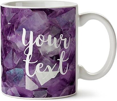 Personnalisé Floral Mug Tasse à Café Travail Cadeau Tout Nom