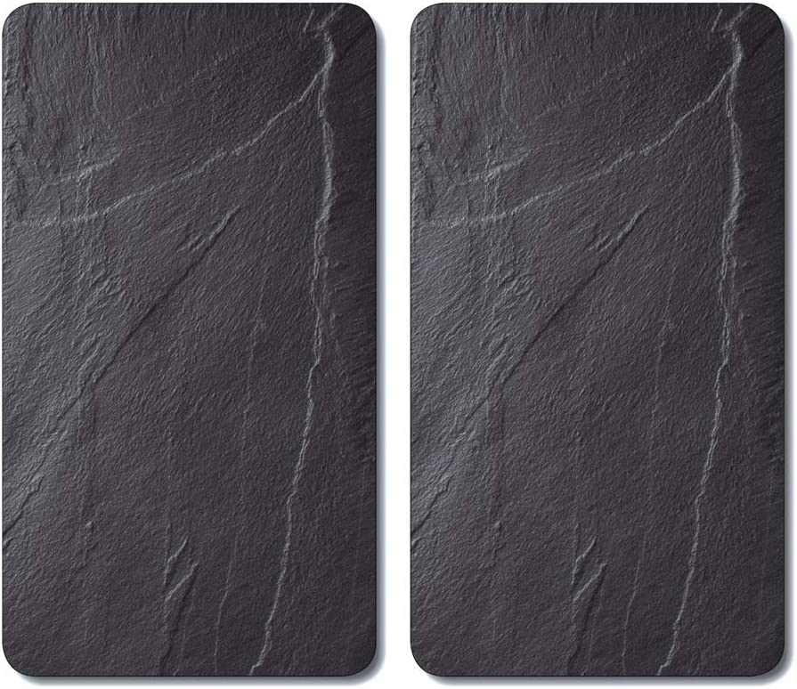 Kesper 3652313 - Tablas para cortar, cristal, Negro, 52 x 30 x 0,8 cm, 2 unidades