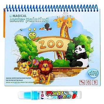 Coloriage Magique Animaux Zoo.Magic Eau Dessin Livre De Coloriage Livre Doodle Avec Stylo Magique