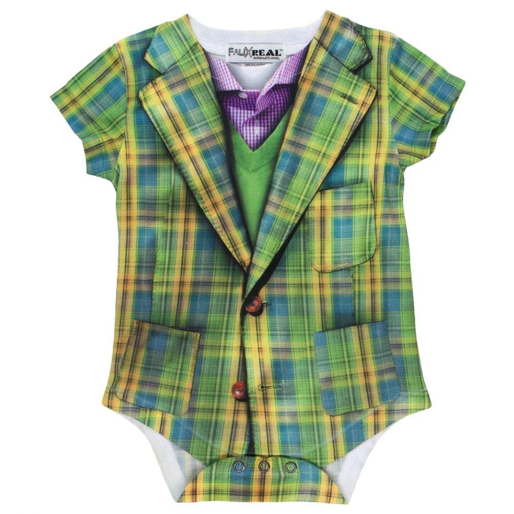 Infant: Plaid Suit Costume Romper Infant Onesie Size 18 Mos