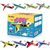 "Joygogo 32 Pack Glider Planes,8"" Long Flying Glider Plane,8 Different Designs,Easy Assembly,Durable Quality-Kids Party Favors for Valentines Airplanes,Birthday Party, Carnival Prizes"