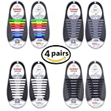 Amazon Price History for:Talent Fashion No Tie Shoelaces Kids/Adults Tieless Elastic Silicone Waterproof Rubber Flat Running Shoe Laces for Sneakers Board Shoes Casual Shoes and Boots