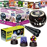 BLACK FRIDAY DEAL Mr Entertainer Compact Boombox Bluetooth Karaoke Machine Inc Mics and 14 CD+G Discs & Party Lights
