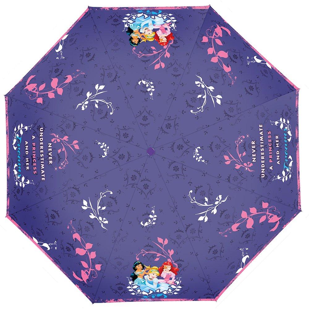 PERLETTI 50426 Mini 50/8 - Paraguas para niña (3 Secciones, Resistente al Viento)