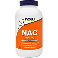 Now NAC 600 mg, 400 Veg Capsules, N-Acetyl Cysteine with Selenium