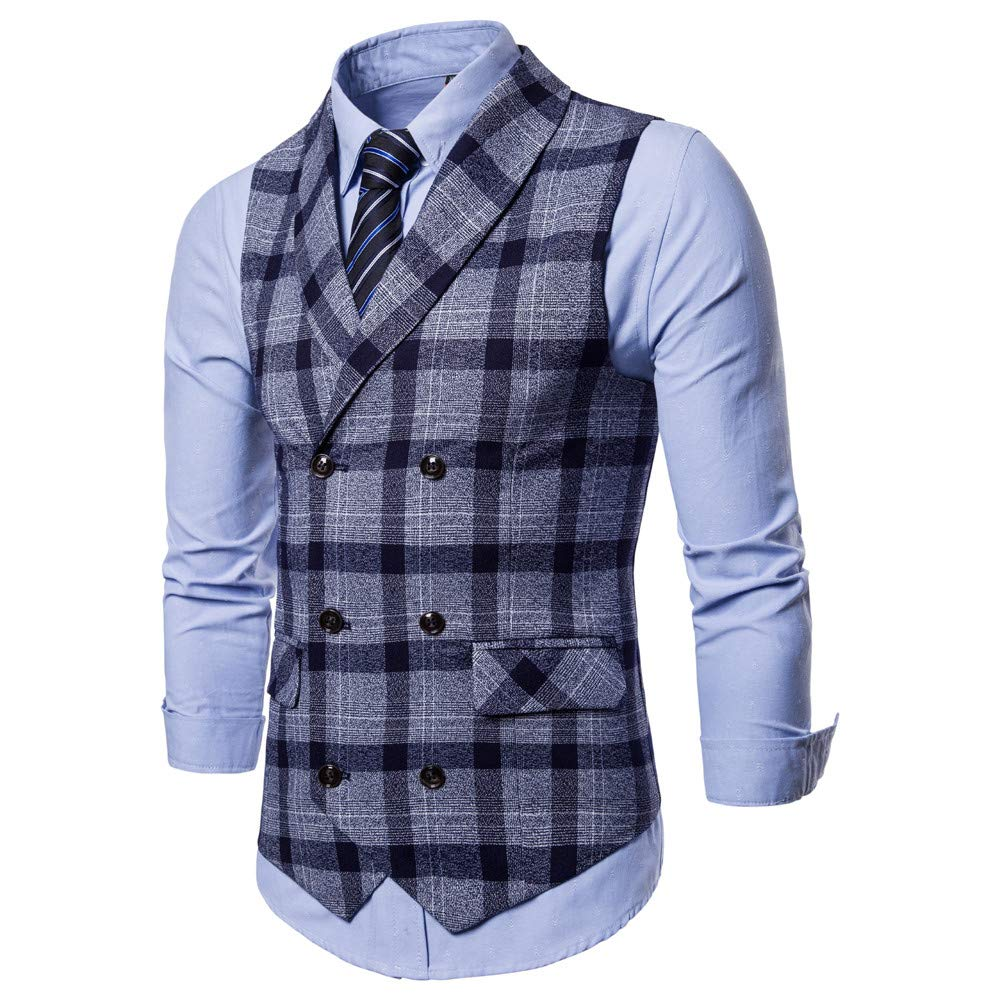 SMALLE ◕‿◕ Clearance,Men Button Casual Print Sleeveless Jacket Coat British Suit Vest Blouse by SMALLE (Image #3)