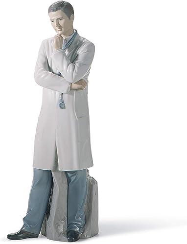 LLADR Male Doctor Figurine. Fair Skin. Porcelain Doctor Figure.