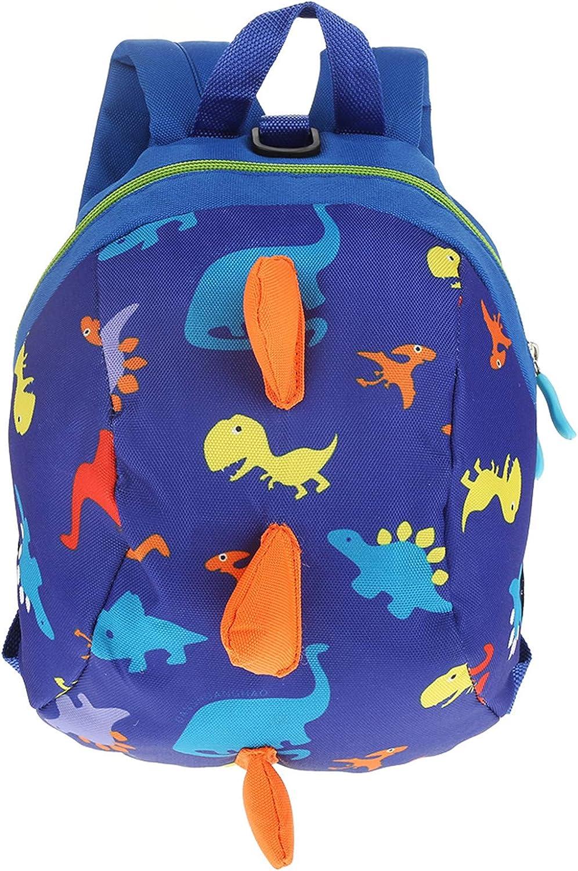 Zerodis Bebé para Caminar La Seguridad Mochila, niños pequeños Lindos 3D Dinosaur Baby Safety Anti-perdido Bolsa de Escuela Zoo con Safety Leash(Azul Oscuro)