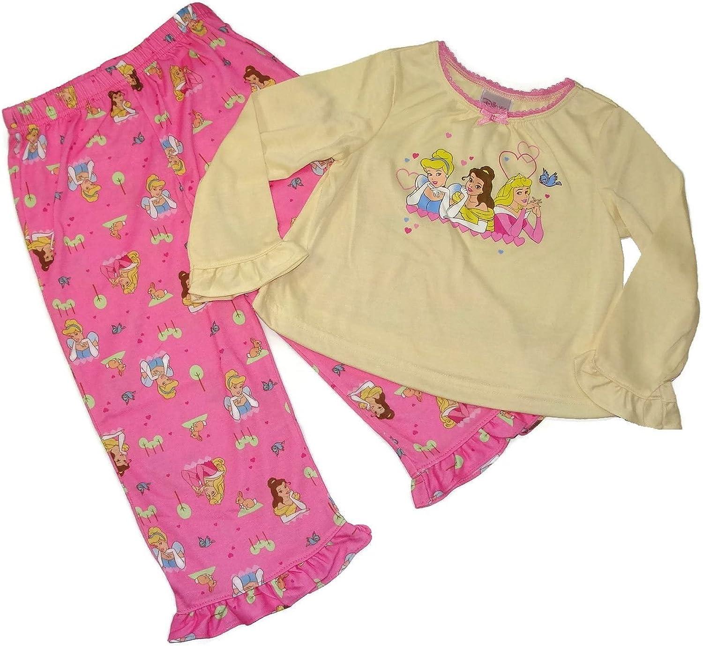 NEW Disney PRINCESS Christmas Holiday Pajamas PJs SET 2T Cinderella Belle Aurora