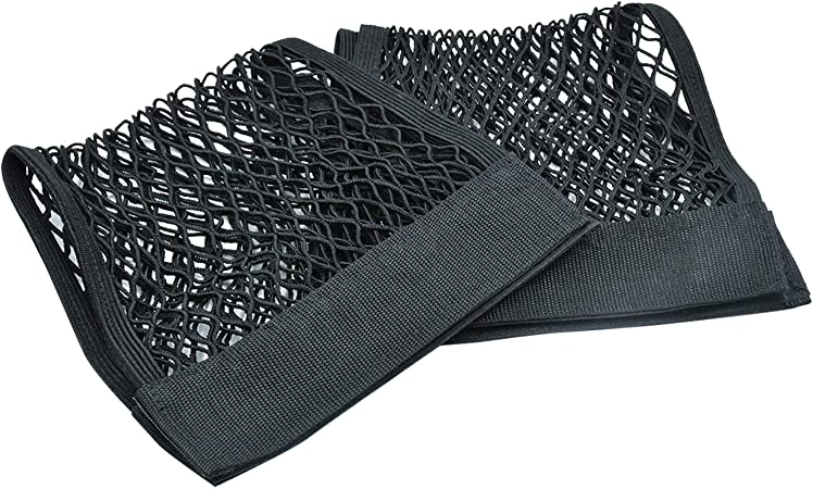 Natee 2 X Kofferraum Netztasche Nylon Gepäcknetz Aufbewahrungnetz Schutznetz Elastischer Netz Organizer Mit Klettstreifen 25 X 50cm Auto
