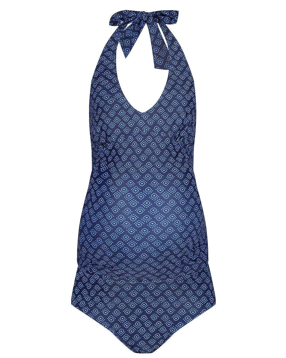 The Essential One - Mujeres Maternidad Tankini Geo - Azul Marino - EOM211: Amazon.es: Ropa y accesorios