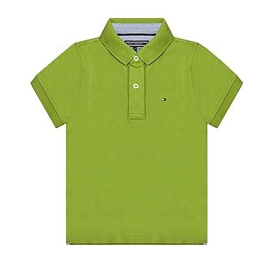 Tommy Hilfiger niños Polo Top Verde Verde Verde Small: Amazon.es ...